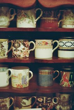 This may actually be more like Bill V.'s home than James B's home ...oddly i have a very similar coffee / tea cup collection - although i like these coffee cans from the 19th century more than my own ...sigh