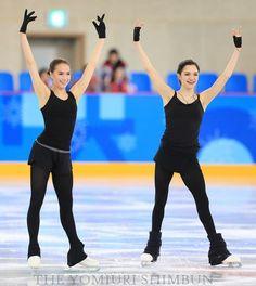 Alina Zagitova and Evgenia Medvedeva - Russia (OAR) Olympic practice. Roller Skating, Ice Skating, Figure Skating, 2018 Winter Olympic Games, Winter Olympics, Gabrielle Daleman, Figure Ice Skates, Tessa And Scott, Gym Leotards