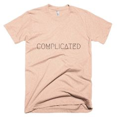 Complicated-Short sleeve men's t-shirt