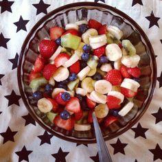 Fruitsalad! Good stuffs for dieting.