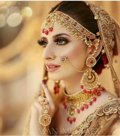 For more of such hot pics fllow 👉 Pakistani Bridal Makeup, Best Bridal Makeup, Bridal Makeup Looks, Pakistani Bridal Dresses, Bridal Beauty, Bridal Looks, Wedding Makeup, Pakistani Wedding Photography, Bridal Boudoir Photography