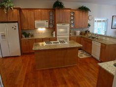 Kitchens Maple Cabinets Island Crown Molding Maple