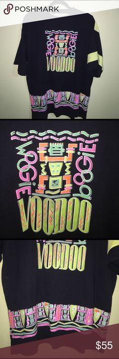 Vintage Boogie Woogie Neon Voodoo T Shirt Vintage Neon 80s Shirt | Size: Medium (MEN'S) ; Large (WOMEN'S) | Condition: Pre-Owned (10/10 Like-New! No major flaws!) Vintage Tops Tees - Short Sleeve