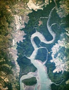 New Space Station Camera Snaps First Image of Earth - A new photo taken from the International Space Station shows an ecologically diverse area of Panama in a new light.    The picture is the first taken by a new Earth-observing tool recently installed on the orbiting science laboratory, and shows the San Pablo River emptying into the Gulf of Montijo, reported NASA's Earth Observatory.