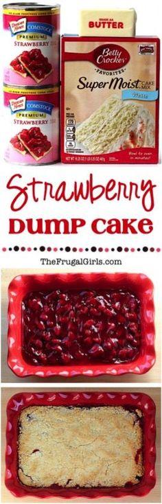 Strawberry Dump Cake Recipe ~ This EASY dessert is only. Strawberry Dump Cake Recipe ~ This EASY dessert is only. - My Board - [ Poke Cakes, Köstliche Desserts, Brownie Desserts, Oreo Dessert, Easy Cheap Desserts, Homemade Desserts, Weight Watcher Desserts, Dump Cake Recipes, Baking Recipes