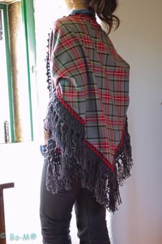Bo-M: Xaile de fazenda com picot em crochet