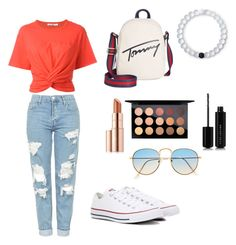 """Untitled #139"" by vivid-styles on Polyvore featuring T By Alexander Wang, Topshop, Converse, Tommy Hilfiger, Lokai, Marc Jacobs, MAC Cosmetics and Estée Lauder"
