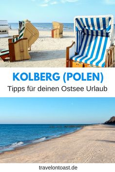 Kołobrzeg Poland: Tips for a wonderful Baltic vacation - Kolberg: The best Kolberg tips for Kolberg beach, sights, restaurant and food. Travel Through Europe, Travel Around The World, Around The Worlds, Reisen In Europa, Backpacking Europe, Baltic Sea, Outdoor Travel, Poland, Travel Inspiration