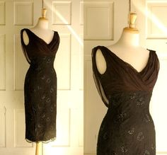 Vintage cocktail dress - like the chocolate brown.