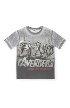 Primark - Avengers Age of Ultron Grey T-Shirt
