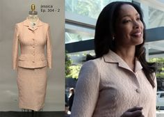 Jessica Pearson in suit by Dolce & Gabbana