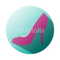 Heel shop for women #button #fotolia #design #concept #tool #cart #shop #online #services #icon #vector #business