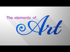 The Elements of Art - Great little animation to get the discussion rolling.   introduction, do-now, motivator, intro, lesson plans, gif, movie, after effects