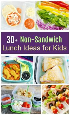 mittagessen kinder You and your kids in a school lunch rut? Are they boycotting the same old? You and your kids in a school lunch rut? Are they boycotting the same old? Here is a great collection of Non-Sandwich Lunch Ideas for Kids Non Sandwich Lunches, Lunch Snacks, Clean Eating Snacks, Healthy Eating, Healthy Food, Lunch Sandwiches, Healthy Cooking, Healthy Meals, Kids Lunch For School