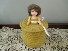 Vintage Crochet Doll Toilet Tissue Cover by BeatnikReject on Etsy, $12.00