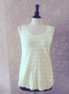 Old Navy Lime Green Sleeveless Cutout Tank Top Womens XS Extra Small New #OldNavy #TankCami #Casual
