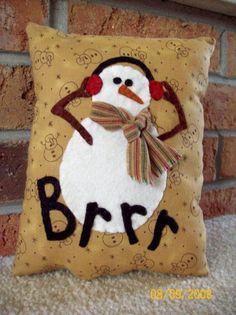 B r r r...... snowman pillow