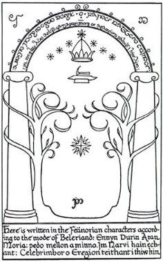 Gate of Moria | J R R Tolkein