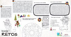 He preparado 8 actividadeso retos para trabajar la percepción visual de forma muy entretendia sobre la Navidad . Estas actividades están pensadas como tareas de