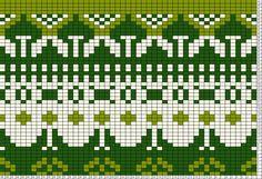 Tricksy Knitter Charts: Scandinavian Motif Greens (46135)