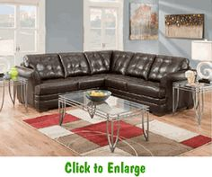 Velocity Espresso Sectional by Simmons at Furniture