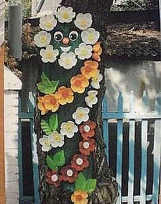Obiecte decorative pentru gradina confectionate din peturi de plastic