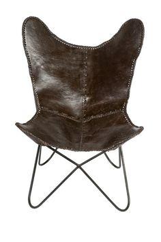 Charcoal Grey/Black Leather Butterfly Chair  by ReginaAndrew on @HauteLook