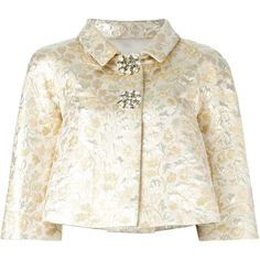 Dolce Gabbana Gold Floral Brocade Jacket ❤ liked on Polyvore featuring dolce&gabbana