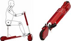 Scooters, Folding Scooter, Alpha, Personal Compact Scooter Concept