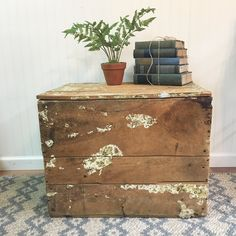 Collection Here Vintage Antiqued Wooden Box French Wine Chest Crate