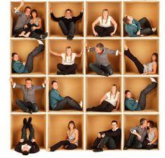 Pallet Wood Family Photo Backdrop, Unique Family Photo Ideas