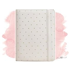 A5 Planner binder with dots in white at TanyaBrittany shop