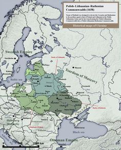 Map of the 1658 proposal to create a Polish-Lithuanian-Ruthenian Commonwealth