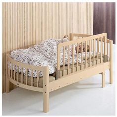 BABYDAN Bed Guard Wooden Nature