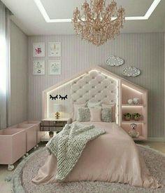Diy Home Decor Bedroom, Room Ideas Bedroom, Teen Room Decor, Girls Bedroom, Teen Bedrooms, Master Bedroom, Kids Bedroom Designs, Home Room Design, Kids Room Design