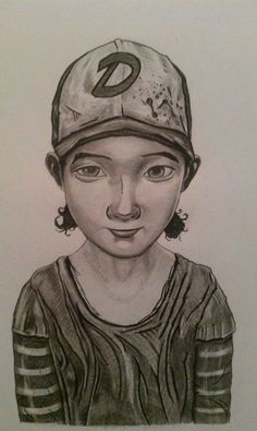 "ARTFINDER: Clementine of Telltale's ""The Walking... by Scott Jeffrey Valline - From the Telltale Production game ""The Walking Dead"", based upon the popular television series. Brave child Clem is forced to grow up quickly in a world wh..."
