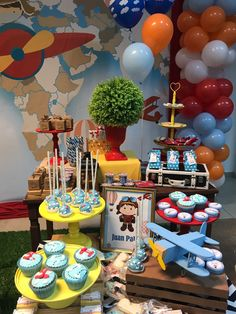Super Baby Shower Ideas For Boys Diy Decoration First Birthdays Ideas Baby Shower Themes, Baby Boy Shower, Shower Ideas, Vintage Airplane Party, Planes Birthday, Baby Boy First Birthday, First Birthdays, Diy Decoration, Pilot