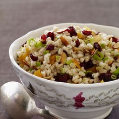 Warm Wheat Berry Salad with Dried Fruit