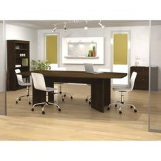 """Palmer 3-pc office suite w/ 96"""" conference table, bookcase and lateral file $799.00 for three pieces"""