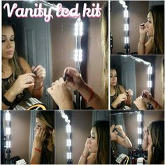 Pro - Hollywood lighted Make-up Vanity LED Mirror Kit,  Vanity Mirror LED, LED Vanity kit.