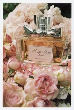 """Miss Dior Cherie // My favorite perfume. The new """"Miss Dior"""" has a different formula and scent. Perfume Dior, Perfume Floral, Best Perfume, Miss Dior, Christian Dior, Dolce E Gabbana, Posh Girl, Perfume Collection, Fragrance Parfum"""
