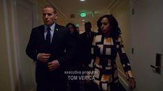 Olivia Pope's Salvatore Ferragamo Check Wool Jacquard Coat from Scandal - Season 5 Episode 13   TheTake