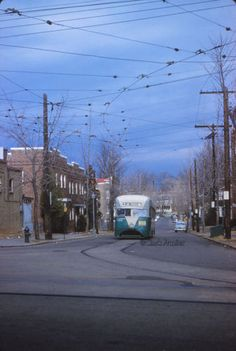 DC Transit #1053 on Fan Trip at Soldier's Home (Route 74). (1959).