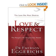 #34 (Audio--read by author) Love & Respect: The Love She Most Desires, The Respect He Desperately Needs  This is one of John's textbooks for his marriage counseling book. We listened to it on the way home from California. Definitely somethings to consider....