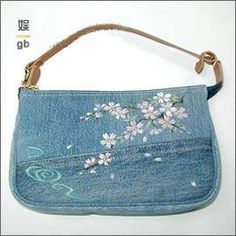 Loads of recycled denim bag ideas (photos only)