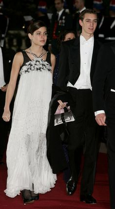Charlotte Casiraghi in Chanel S06, w/ brother Pierre - Monaco's National Day  Prince Albert II's Coronation - Day 2