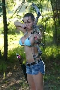 lady with arrow