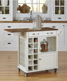 Loving this White & Oak Danville Kitchen Cart on #zulily! #zulilyfinds