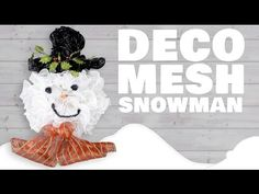Want this adorable snowman to adorn your door this winter? We've made it easy for you to round up all of the supplies needed with this Wreath Recipe™. Included are all the products used in this wreath in the exact amounts you will need to recreate it you Poinsettia Wreath, Snowman Wreath, Tulle Crafts, Wreath Crafts, Craft Outlet, Wreath Tutorial, Deco Mesh Wreaths, How To Make Wreaths, Diy Projects To Try