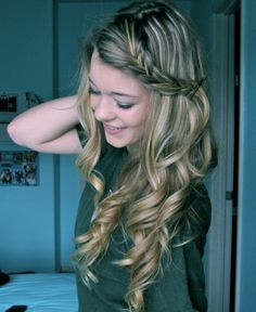 Hair with braid.
